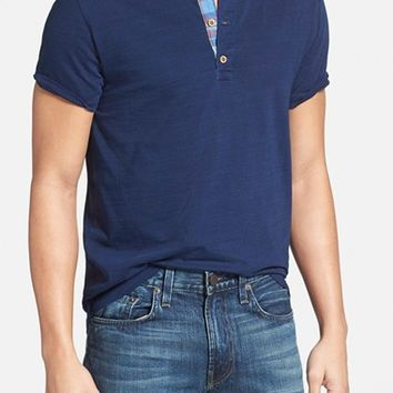 Men's Tailor Vintage Cotton Short Sleeve Henley,