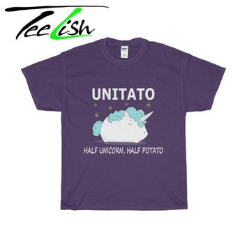 Half unicorn half potato funny shirt
