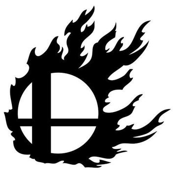 Super Smash Bros Decal Sticker for Car Window, Laptop wall