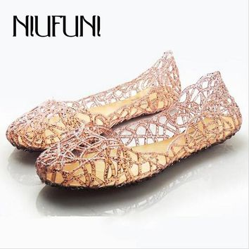 New Women's Sandals Summer Shoes Woman Casual Jelly Shoes Tenis Feminino Flats Sandalias Femininas Fashion Bling Sandals