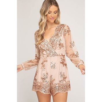 'Sequin Obsession' Playsuit