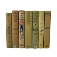 Brown Shades of Decorative Accent Books for Home Decor, S/7