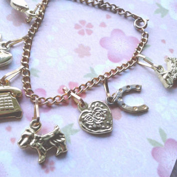 Vintage Barbie Charm Bracelet - CHILDREN'S bracelet - Kitsch Kawaii