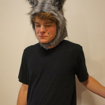 Crying Wolf- Funny Pun Halloween Costume perfect as Women's Men's unique creative Halloween Costume Easy & simple fits all sizes