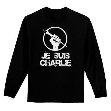 Je Suis Charlie Adult Long Sleeve Dark T-Shirt