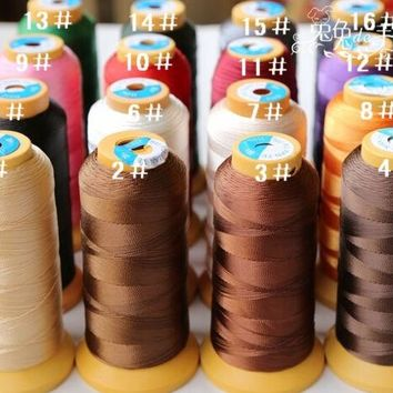 ONETOW OPAL FERRIE  - Multicolor Nylon Thread 600M High-strength Denim line Hair Weaving/Sewing Supplies DIY Accessories Multi-Purpose
