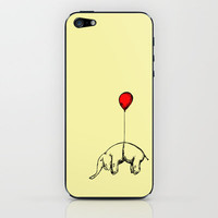 Red Elephant iPhone & iPod Skin by Dicom
