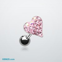 Dainty Heart Multi-Gem Cartilage Earring