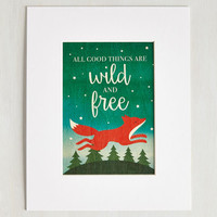 Critters Lively Liberation Print by ModCloth