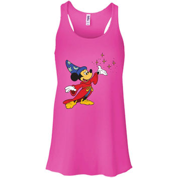 Merry Christmas and Happy New Year Mickey Mouse 2  B8800 Bella + Canvas Flowy Racerback Tank