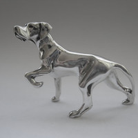 Solid sterling silver vizsla,retriver, pointer sculpture, miniature