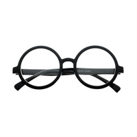 Large Retro Style Thick Framed Clear Lens Circle Round Eye Glasses R68