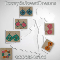 Love Earring-Fashion-Accessories-Jewelry-Under 25-Wedding Bridesmaid-Gifts-Knitting-Knitting  Earring-Women Accessories-Green Earring-