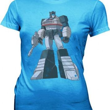 Transformers Optimus Prime Distressed Carolina Blue Juniors T-shirt  - Transformers - | TV Store Online