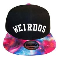 Weirdos Neptune Snapback Hat in Black & Galaxy