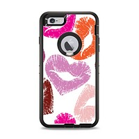 The Vector Puckered Color Lip Prints Apple iPhone 6 Plus Otterbox Defender Case Skin Set