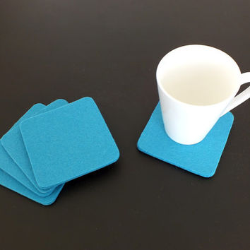 Square Thick Wool Felt Coaster, Eco-Friendly, Natural Coasters. Five Colors Coasters. Beer Coasters, Party Coasters, Home Decor, Gift idea