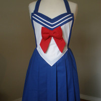 Sailor Moon inspired cosplay costume inspired apron