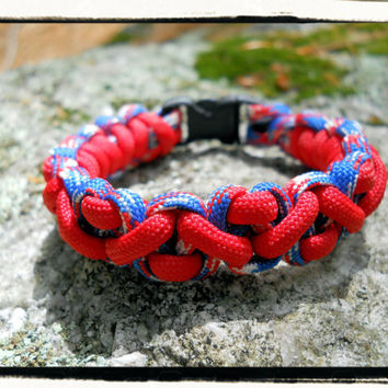 Red/White/Blue Paracord Bracelet (July4th)