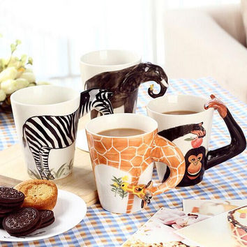 Handmade 3D Animal Shape Ceramic Coffee Mug