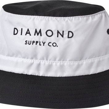 Diamond Stone Cut Bucket Hat Small/ Medium White/Black