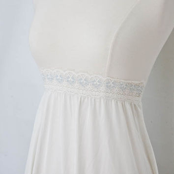 1960s Something Blue Lace Trim High Waist Slip
