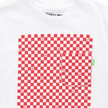 Vans Boys Checkerboard Pocket Tee (White)