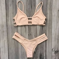New Vintage Style Swimsuits Bikini Set Beachwear +Free Gift-Random Necklace
