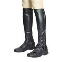 Steampunk Black Boot Spats - FM-68876 from Dark Knight Armoury