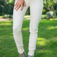 The Valarie Jeggings, Ivory