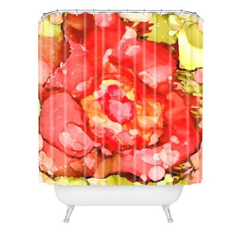 Rosie Brown Kiss From A Rose Shower Curtain
