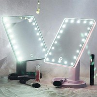 CREY2DU Touch Screen LED Light Vanity Mirror (360 Degree Rotation)