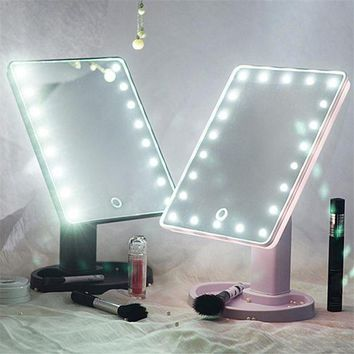 PEAP3DO Touch Screen LED Light Vanity Mirror (360 Degree Rotation)