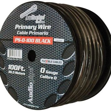 Nippon Audiopipe Flexible Power Cable 0 Ga. 100 Ft. Black