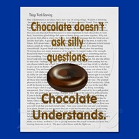 Chocolate understands posters from Zazzle.com