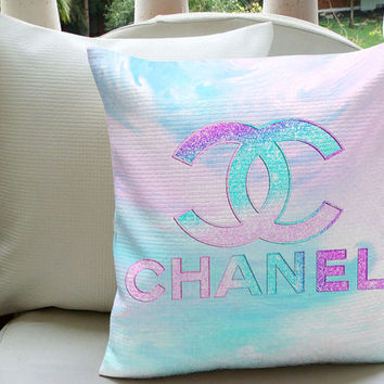 GREAT SALE Chanel Pastel Inspired Pillow Case For Decorative Pillow Cover 18 x 18 Inches One Side & Two Side