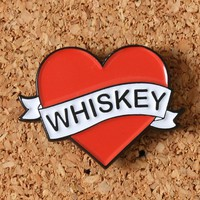 LOVE WHISKEY ENAMEL PIN