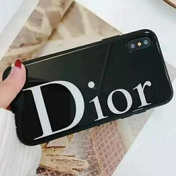 DIOR iPhone Shell Luxury Tide Men Tide Simple Letter Mobile Shell Cover