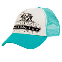 The Girl and The Water - Billabong - Cali Fun Trucker Hat / Aqua - $18