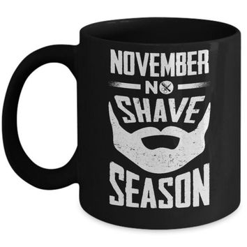 DCKIJ3 November No Shave Season Vintage Beard Mug