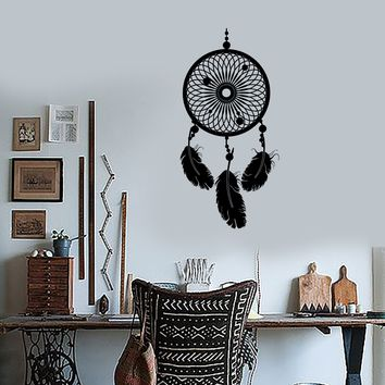Wall Decal Dream Catcher Dreamcatcher Talisman Feather For Bedroom Unique Gift (z2789)