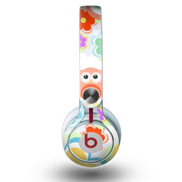 The Fun-Colored Cartoon Owls Skin for the Beats by Dre Mixr Headphones