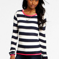 Rugby Stripe Long-Sleeve Sweater