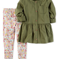 Carter's 2-Pc. Tunic & Leggings Set, Toddler Girls (2T-4T) | macys.com