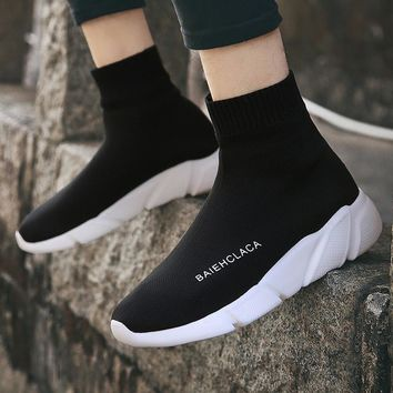 Socks Shoes Woman Tenis Feminino Light Breathable Woman Casual Shoes Women Sneakers Fashion Sapato Feminino Large Size 35-47