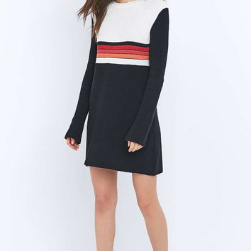 Free People Black Colourblock Jumper Dress - Urban Outfitters