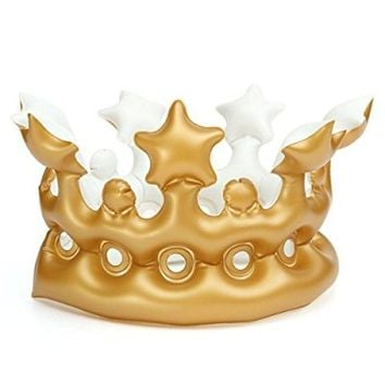 KINGSO Imperial Crown Novelty Inflatable Blow up Toy Party Favor Decor