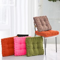 Thicken Corduroy Elastic Soft Chair Cushions Kitchen Chair Seat Cushion Square Floor Cushion Pad Solid Color Comfortable Mat Pad