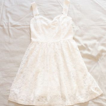 Dress cute princess delicate lace Lolita pure Xian Qi waist sleeveless dress summer