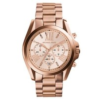 Oversized Bradshaw Rose Gold-Tone Watch | Michael Kors
